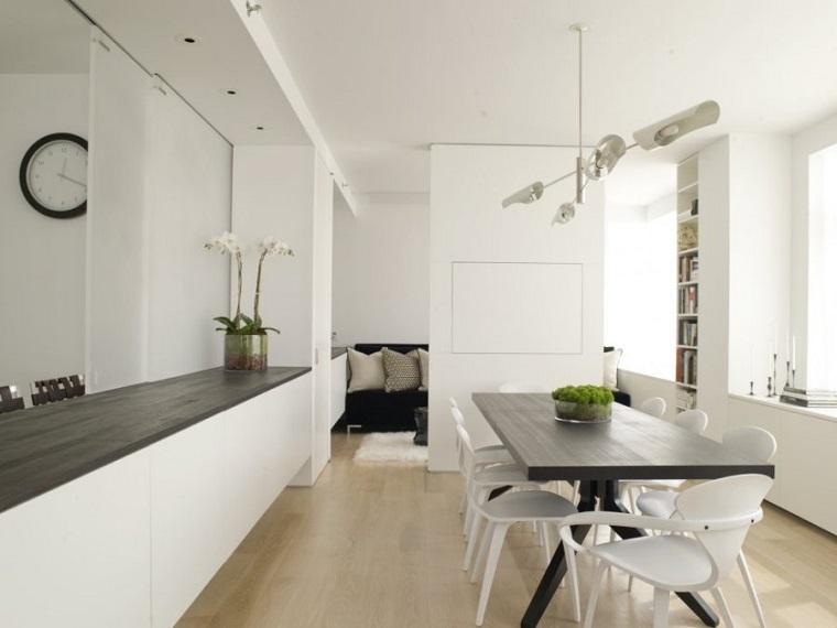 travi di legno semplici arredo salotto moderno