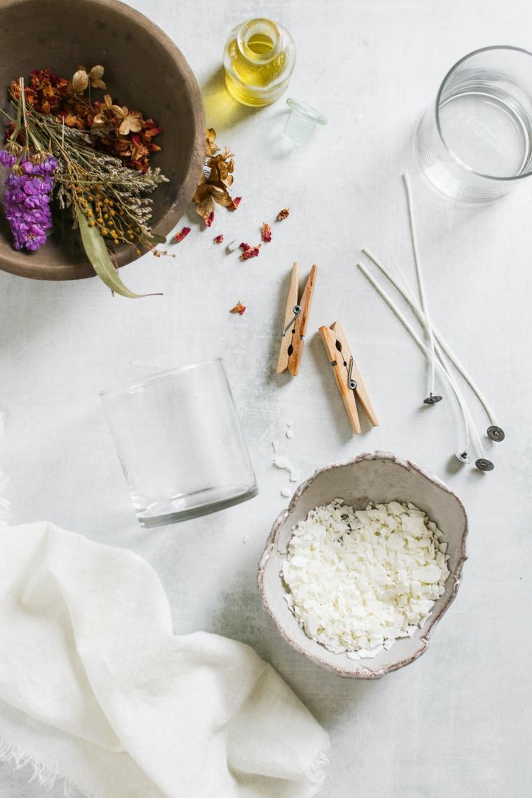 tutorial per candele fai da te petali di fiori idee regalo donna diy