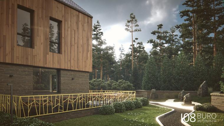 Stile moderno di buro 108 idee per la casa di legno for Design moderno casa di legno