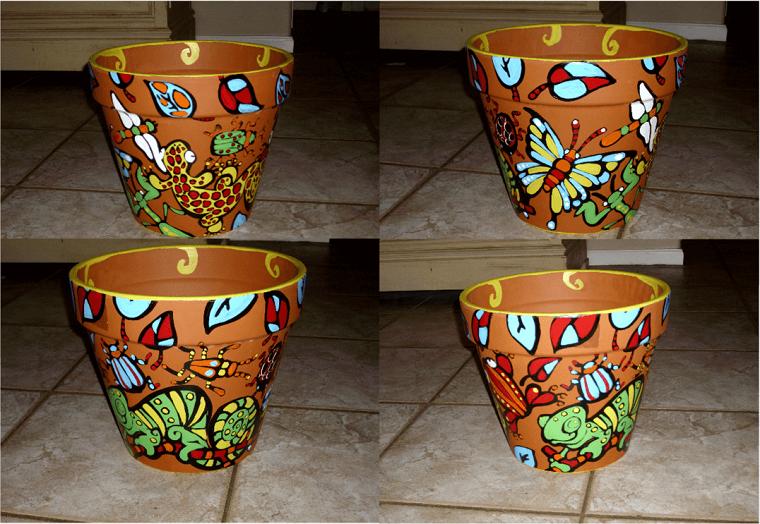 vasi di terracotta decorazioni fai da te
