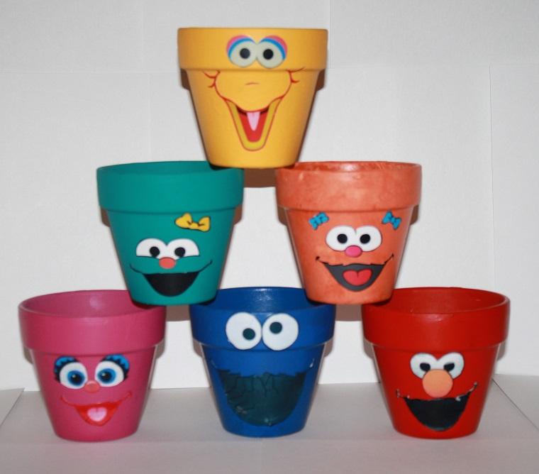 vasi terracotta colorati decorati