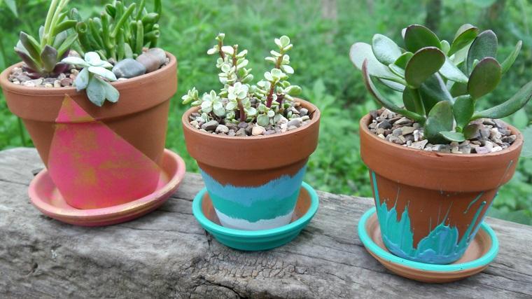 Vasi terracotta tante idee originali per realizzare decorazioni fai da te - Vasi colorati esterno ...