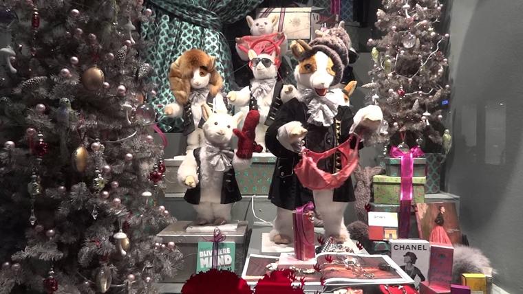 vetrine natalizie splendide negozi biancheria