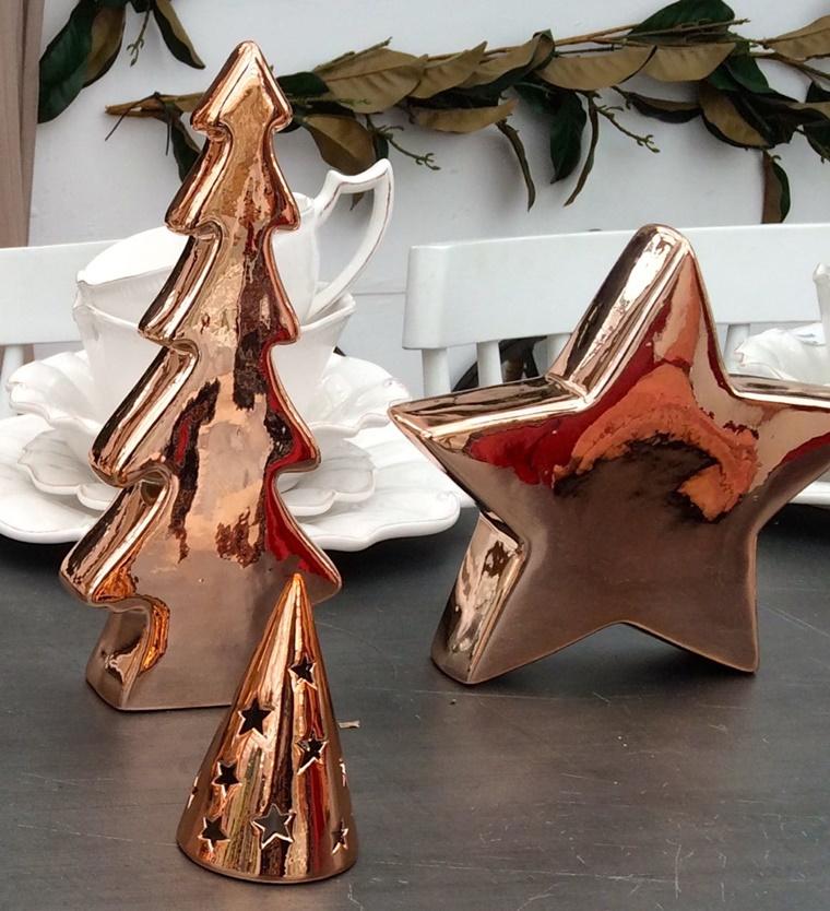 addobbi natalizi color rame stella albero