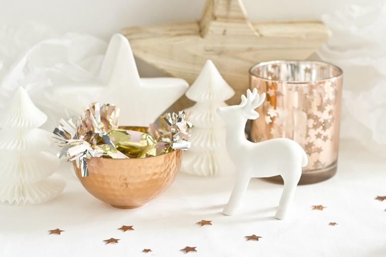 addobbi natalizi color rame stella legno
