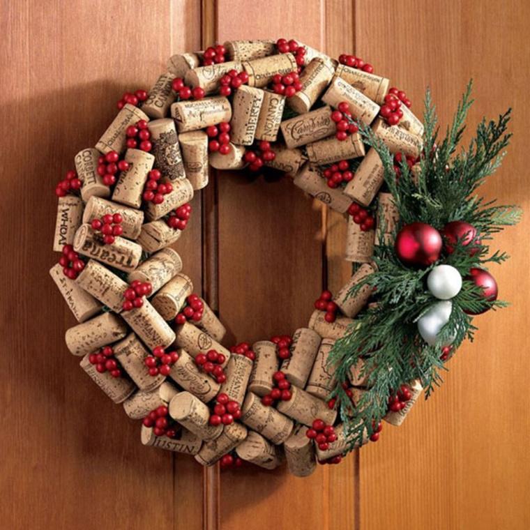 addobbi natalizi fai da te tappi sughero