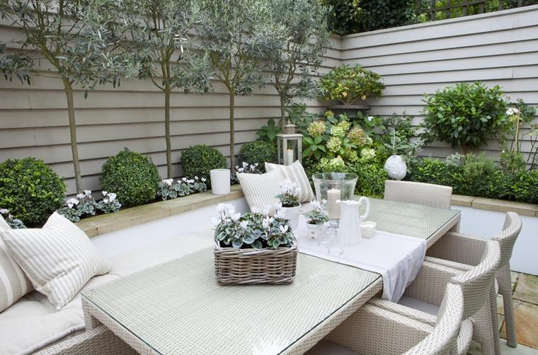 alberi da giardino idee decorative