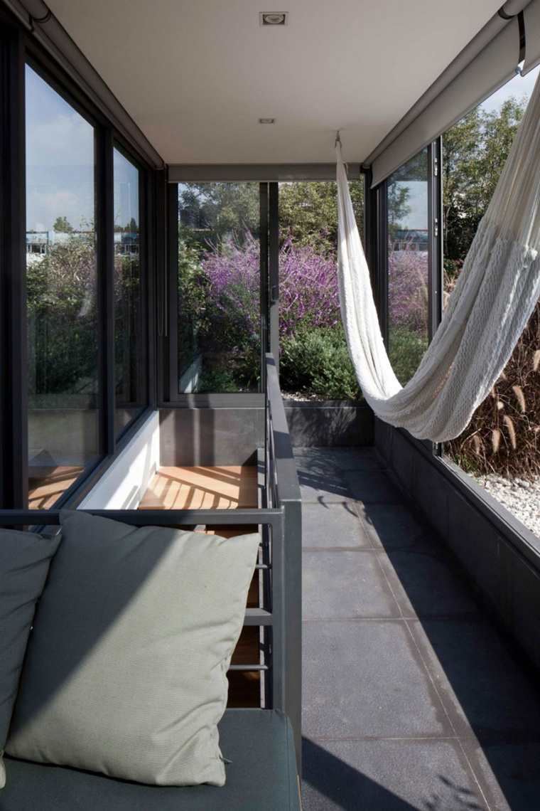 amaca sospesa bianca balcone stretto