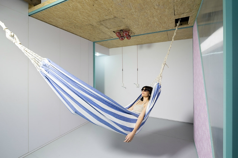 amaca stoffa sospesa appartamento moderno