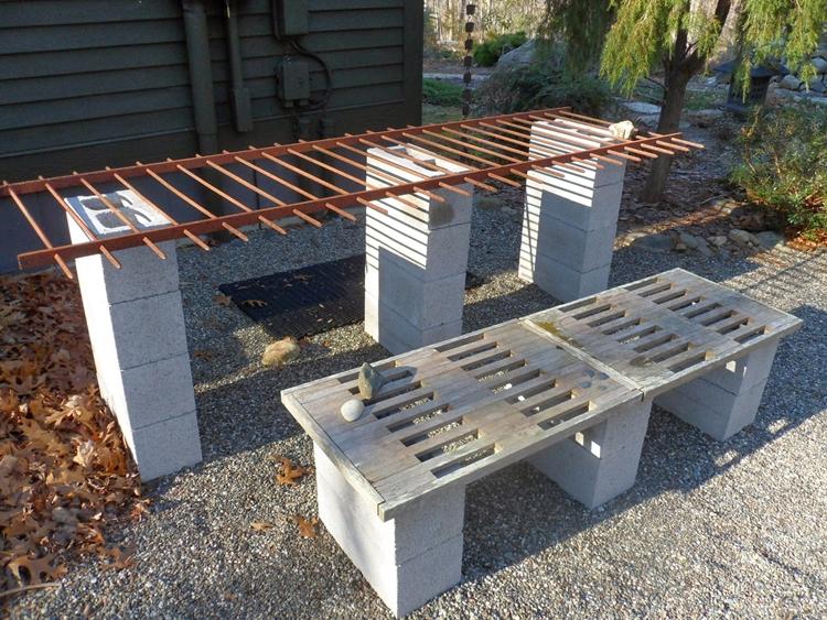 Tavoli Da Giardino In Cemento.Arredamento Giardino E Decorazioni Fai Da Te In Calcestruzzo