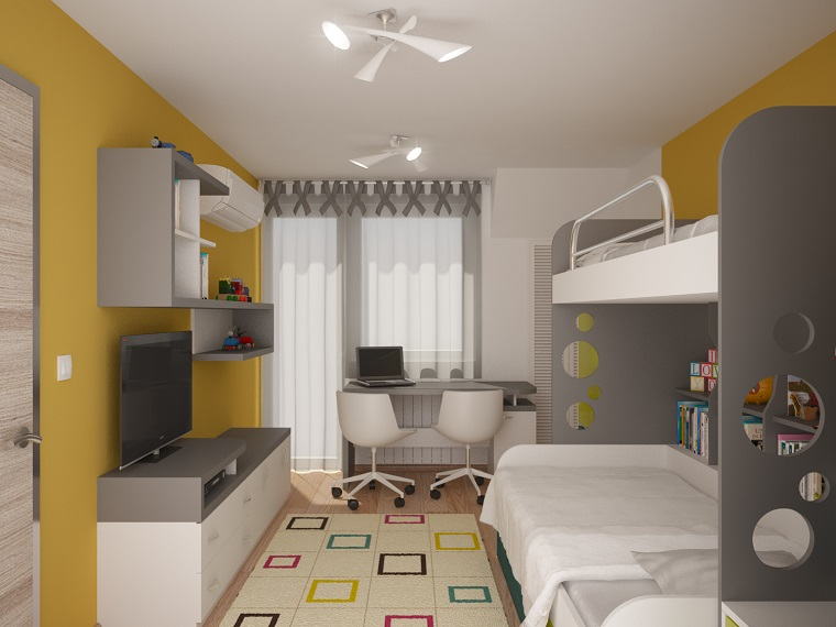 Camerette piccole e grandi idee per arredare e decorare for Piccole case dal design moderno