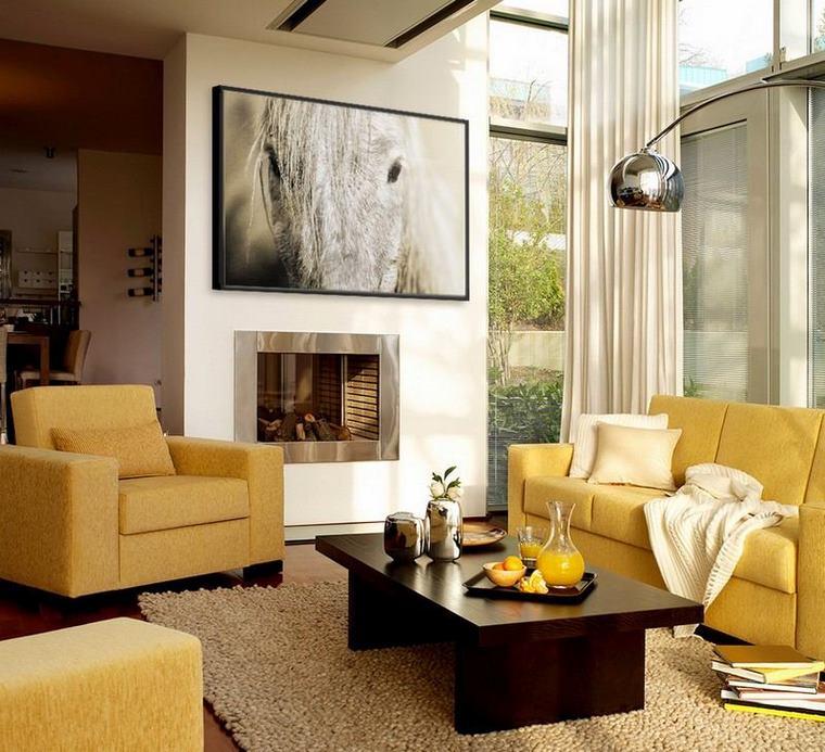 Soggiorno - idee e ispirazioni originali in marrone e beige ...