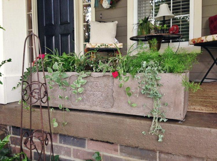 arredamento giardino fioriere moderne calcestruzzo