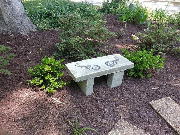 arredamento giardino panchina calcestruzzo