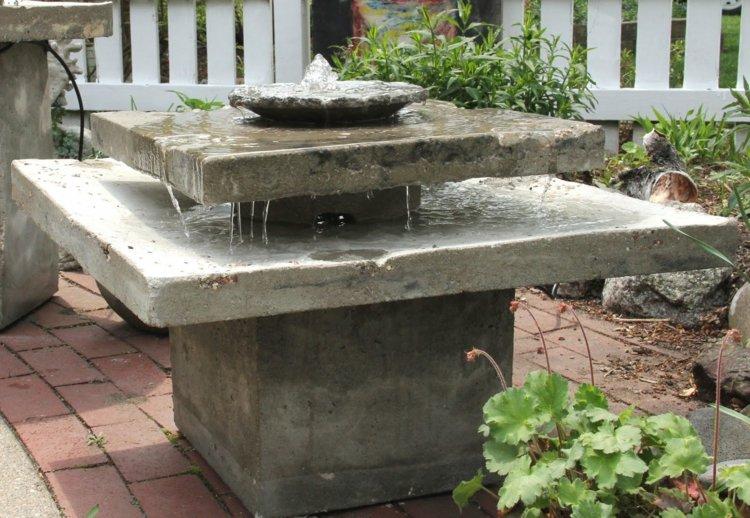 arredamento giardino stile fontane calcestruzzo