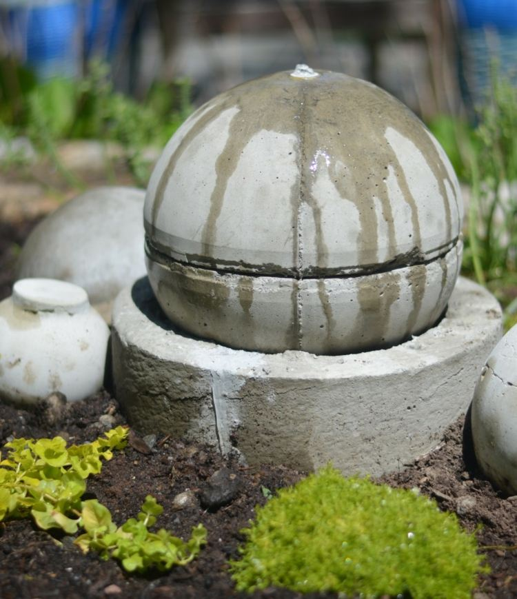 arredamento giardino decorazioni particolari cemento