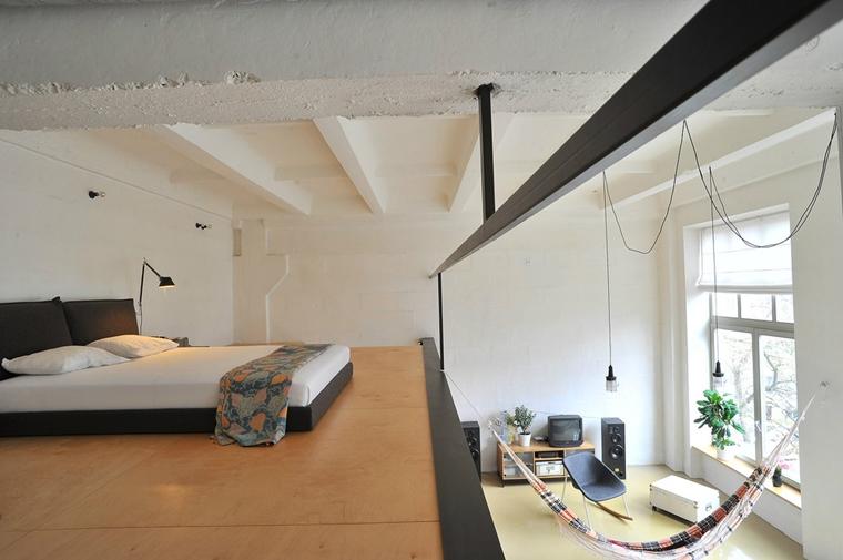 arredamento moderno loft amache sospese