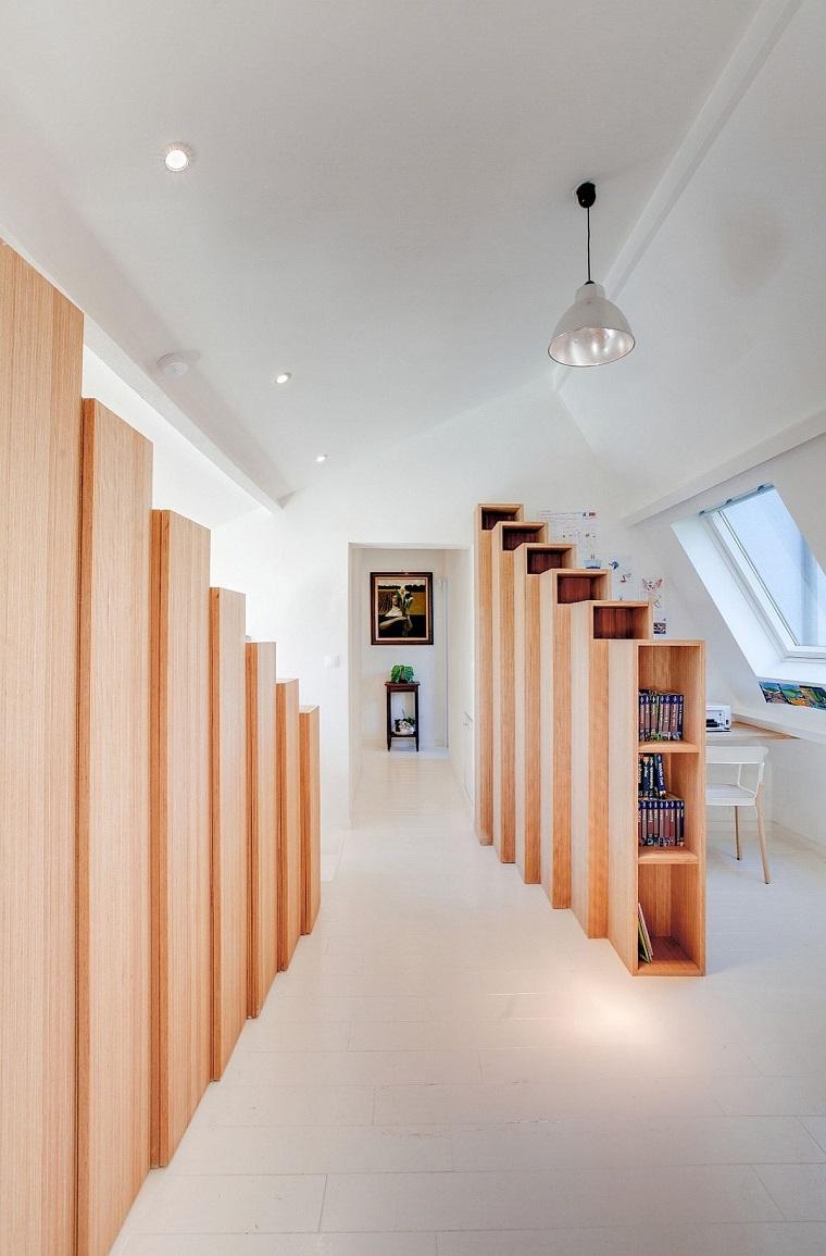 arredamento secondo piano casa zona separata utilizzata studio