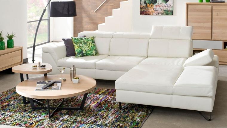 Arredamento soggiorno in stile moderno mobili e for Soggiorno angolare moderno