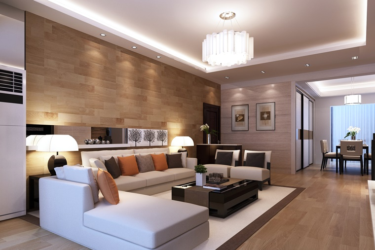 Arredamento soggiorno in stile moderno mobili e for Arredamento classico moderno soggiorno