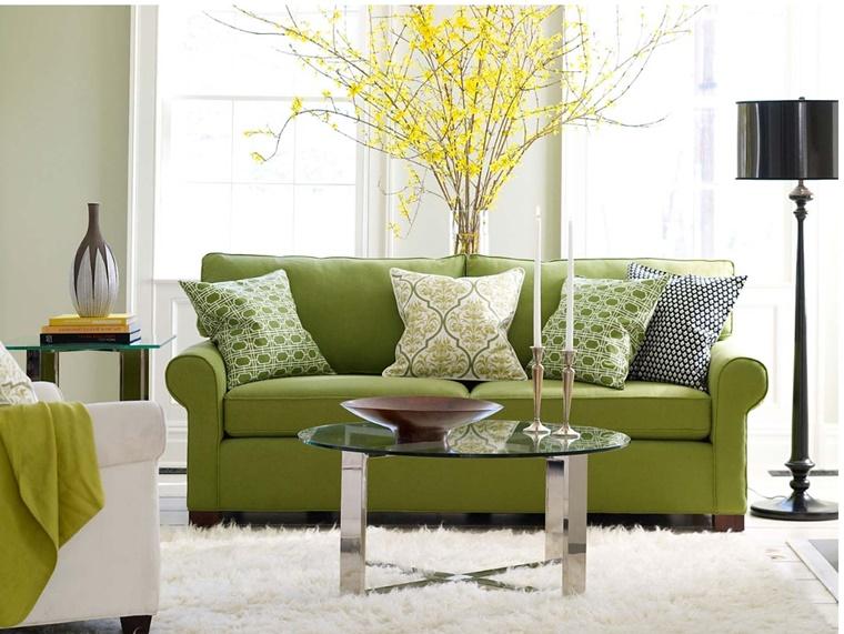 Salotto Moderno Verde : Arredamento soggiorno in stile moderno mobili e decorazioni di