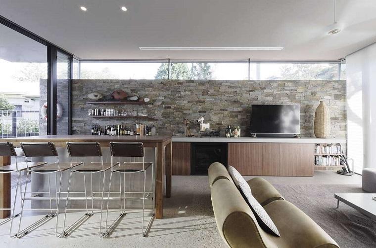 Open space - cucina e salotto con design moderno 2 in 1 ...