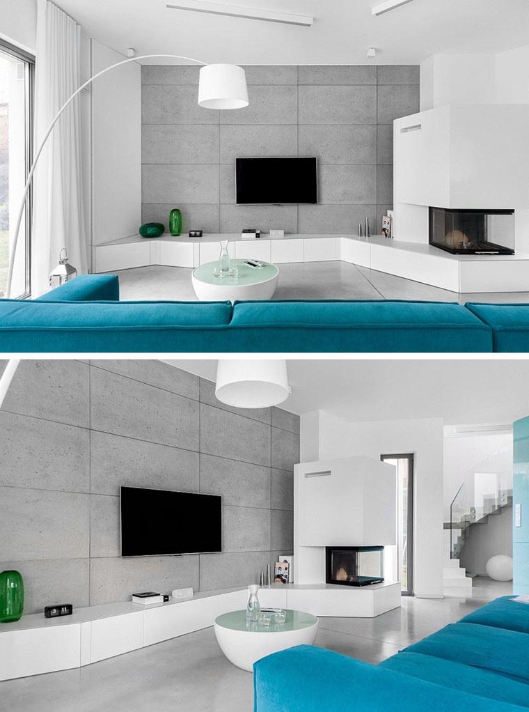 Arredare soggiorno con parete porta tv per schermo piatto for Arredare parete soggiorno