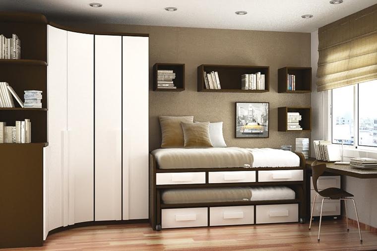 Arredo camera da letto moderna idee salvaspazio e for Arredamento salvaspazio mobili multifunzionali