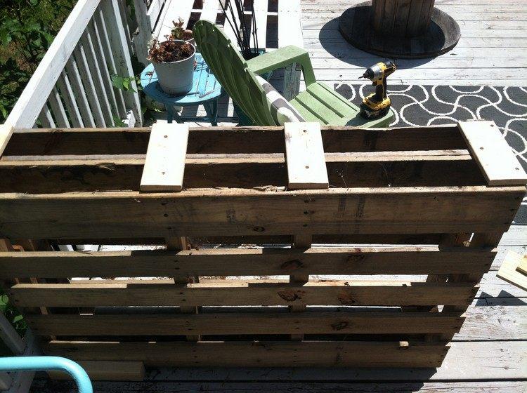 arredo giardino mobili bancali riciclati