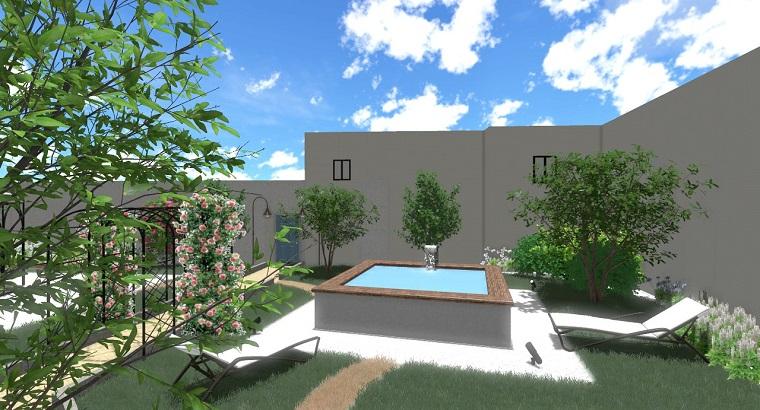 Progettazione giardino 3d creare l 39 area verde online for Arredo piscina