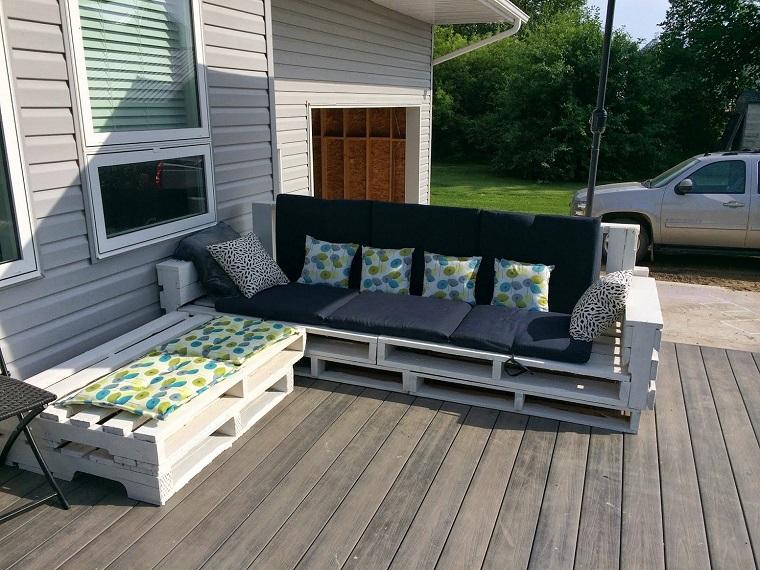arredo pallet idea mobili veranda