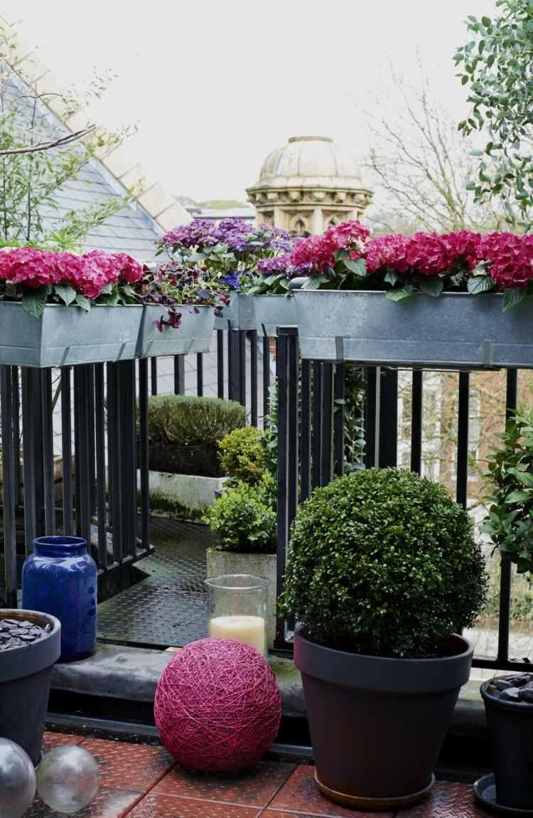 balconi ringhiere in ferro battuto fioriere alluminio