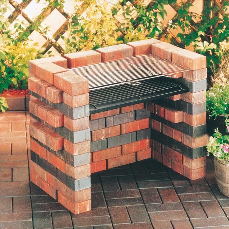 barbecue in muratura costruzione semplice
