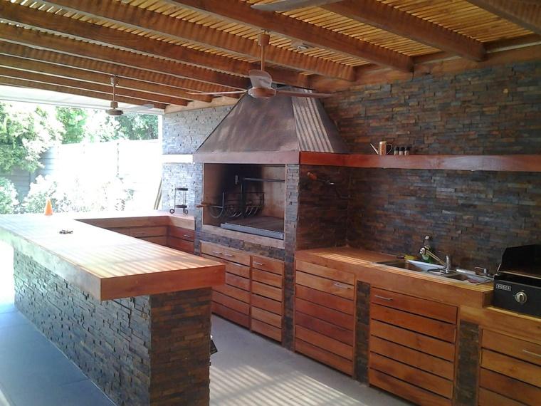 Barbecue in muratura progetto e costruzione fai da te - Costruire cucina in muratura ...