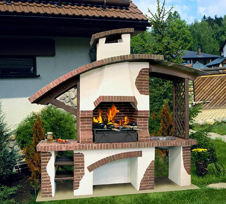 barbecue in muratura idea arredare giardino
