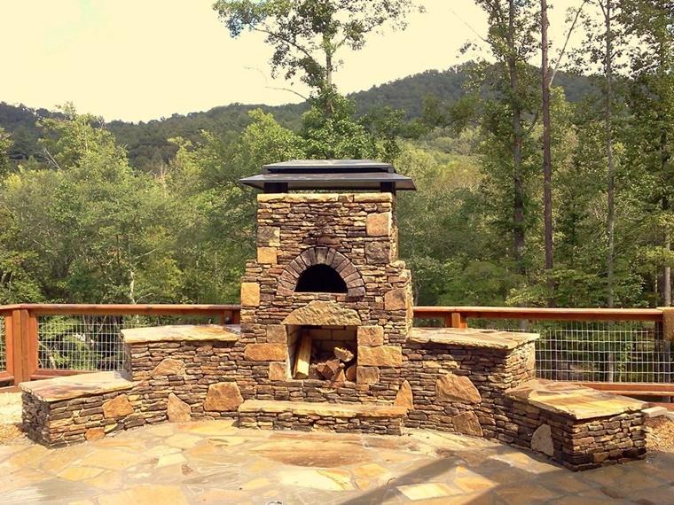 barbecue in muratura stile rustico