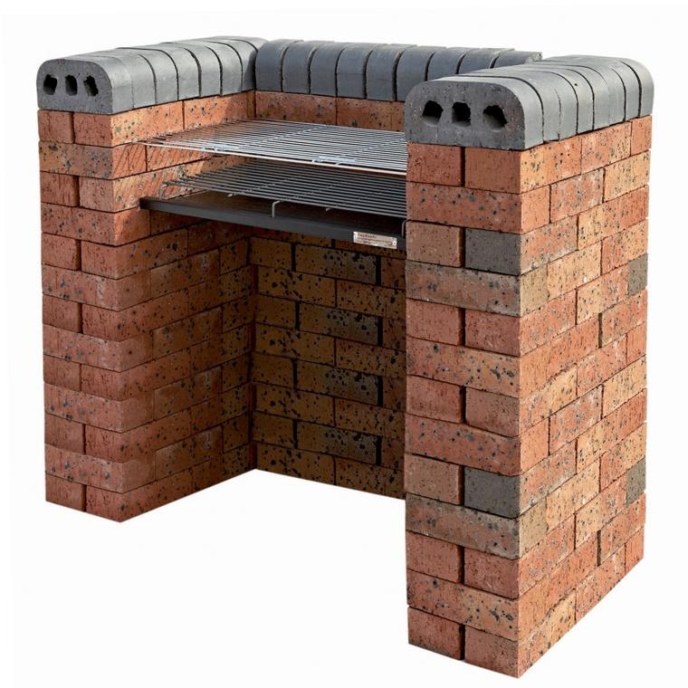 barbecue realizzato mattoni design semplice