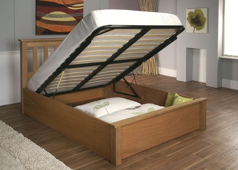 camera da letto letto contenitore parquet