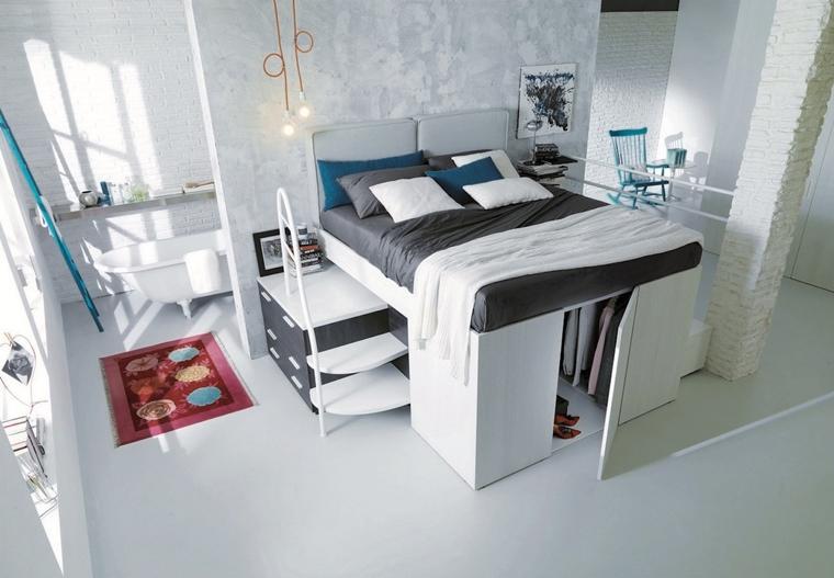 camera da letto moderna arredi salvaspazio