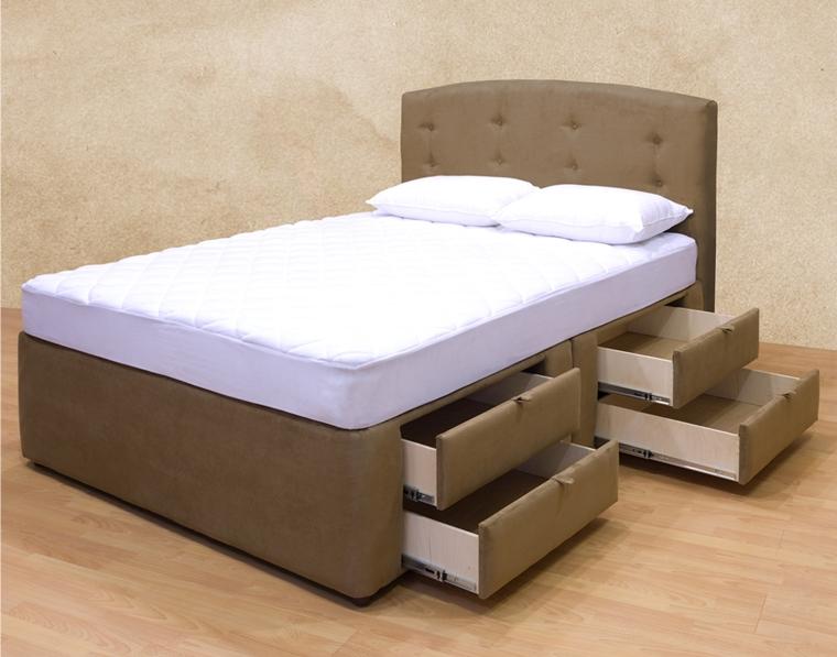 camera da letto moderna letto cassetti