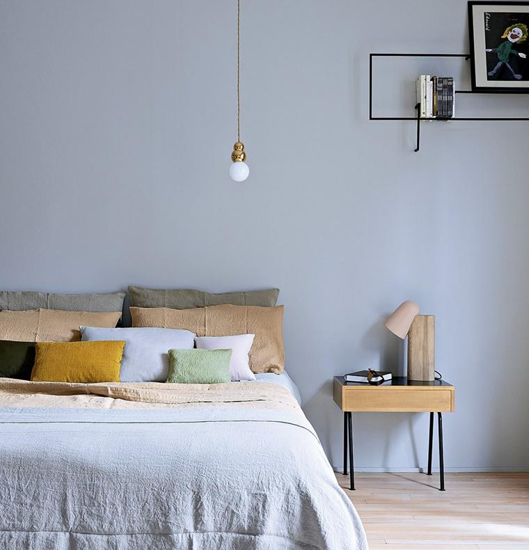 camera da letto piccola colore pareti tonalita chiare
