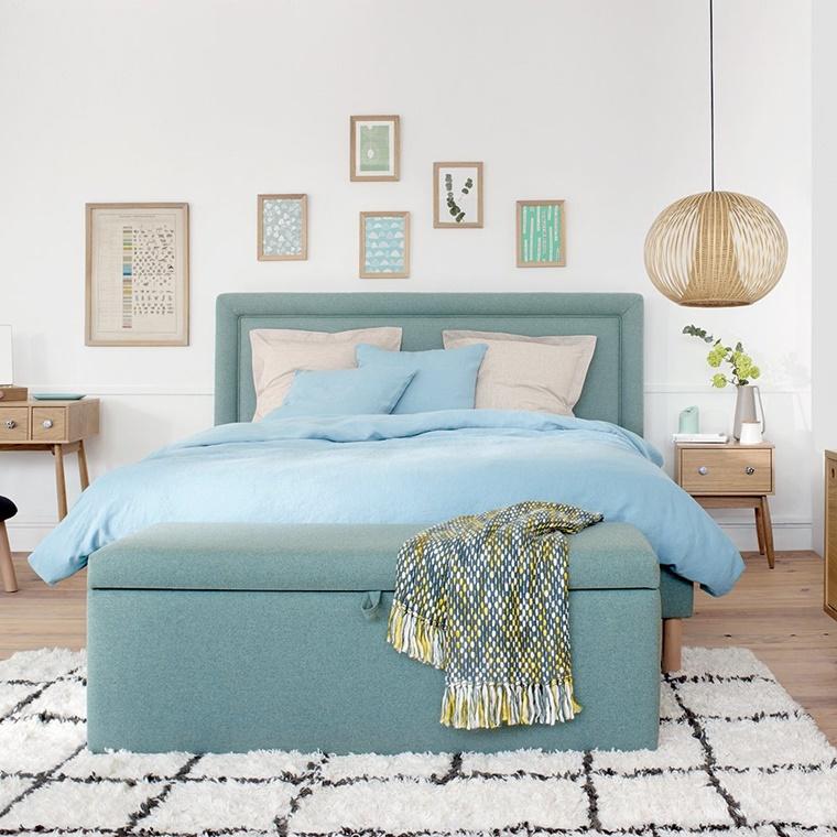 camera da letto piccola elegante raffinata