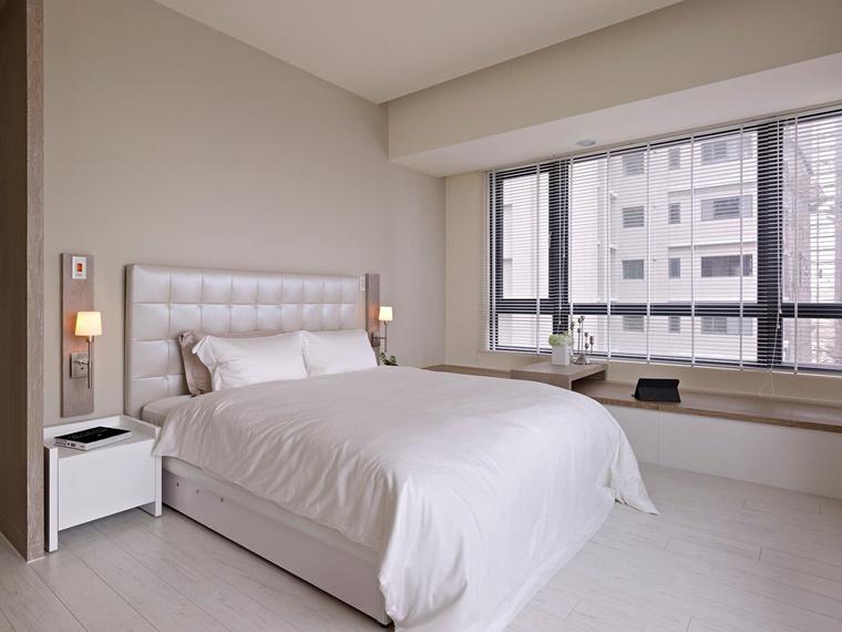camera da letto piccola stile minimal