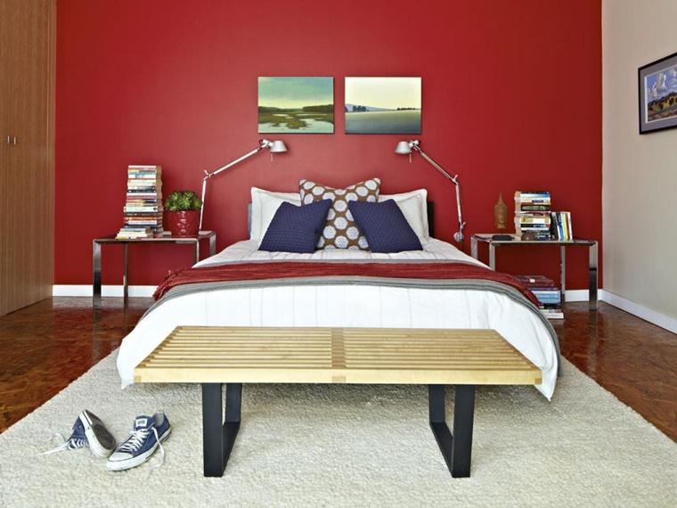 Pareti Camera Da Letto Rossa : Colori pareti camera da letto moderna top interni di luminosa