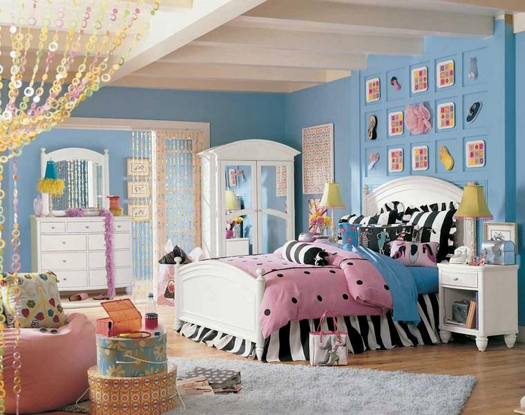 cameretta bambine adolescenti decorazioni originali letto