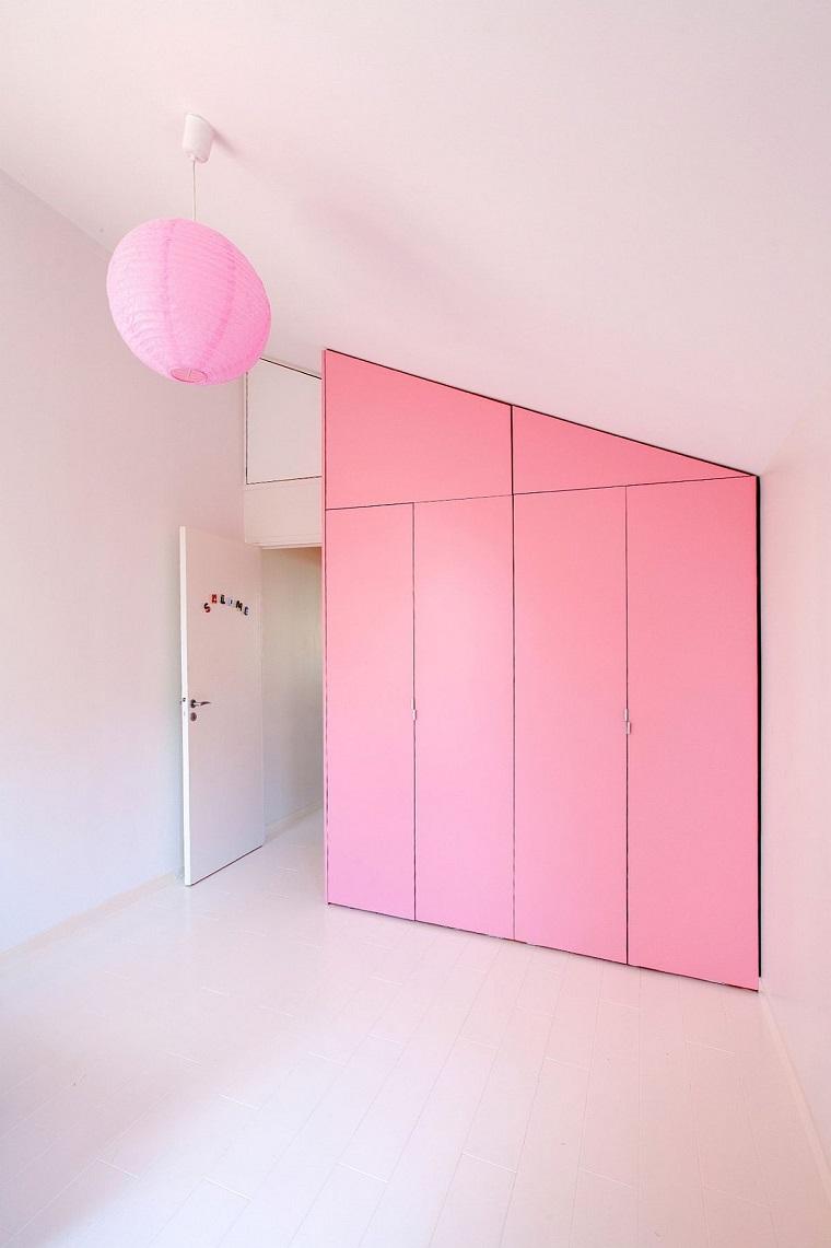 cameretta bambine armadio colore rosa