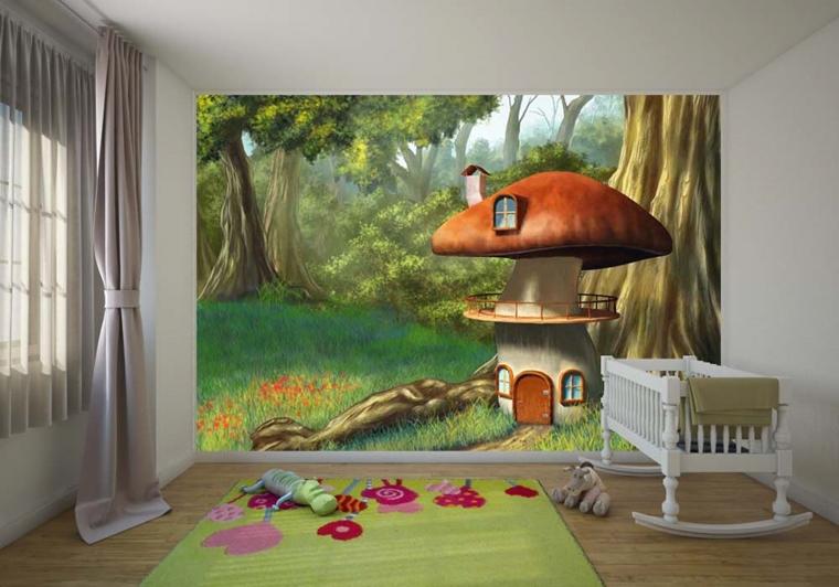 Cameretta bambini colori pareti decorazioni e design moderno for Decorazioni cameretta bambini