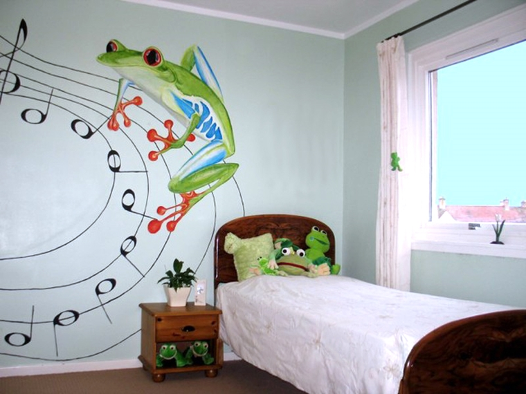 cameretta bambini murales acrilico