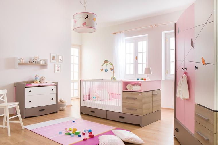 Cameretta neonati soluzioni di arredamento moderno - Idee camera neonato ...