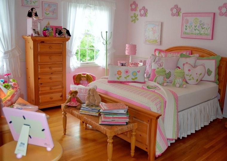 camerette bambine motivi floreari mobili legno